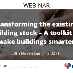 HEART - Webinar   Transforming the existing building stock – A toolkit to make buildings smarter
